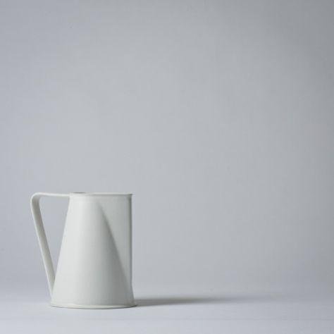 //: Mjölk Stores, Ceramics Pitchers, Masanobu Ando, White Design, Black And White, Teas Pots, Pottery, Products Design, Hands Cast
