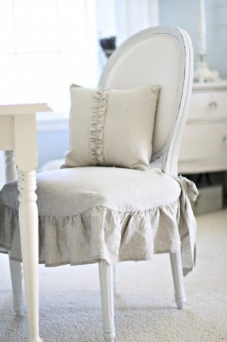 Charming Linen Chair Cover By Cathleen
