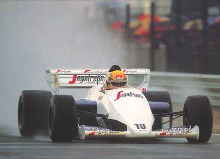 Ayrton Senna's first F-1 race was the Brazilian Grand Prix in 1984 with the Toleman/Hart Team. Senna qualified 16th only to DNF on lap 8 with turbo problems. But in his 2nd race in South Africa, Ayrton qualified 13th, and finished 6th scoring his first F-1 Championship points!
