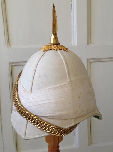 Boer War / Sudan Cavalry pattern Royal Horse Guards Officer's white Cloth Foreign Service Helmet