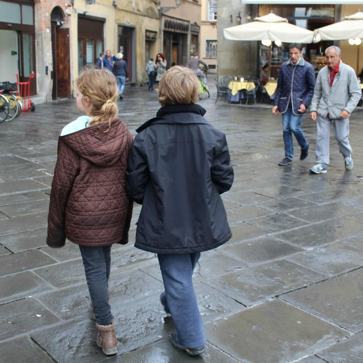 Wandering through the incredible old city of Lucca this week.  #mytwinsifollow