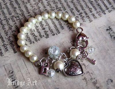 Bransoletka Charms z Koralików Perłowych i Łańcuszka #bransoletka #bracelet #charm #charms