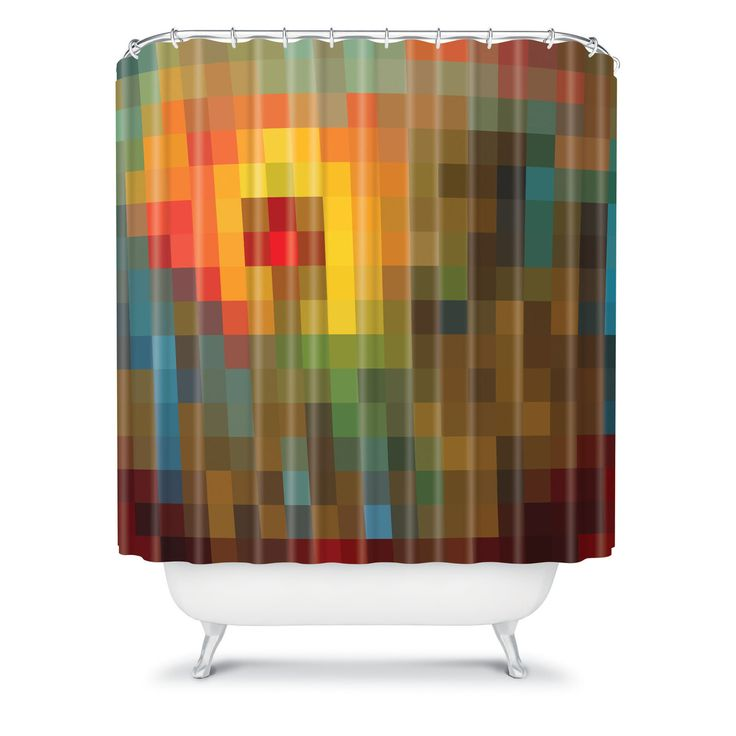 Glorious colors shower curtain room bathroom pinterest for 7 x 4 bathroom designs