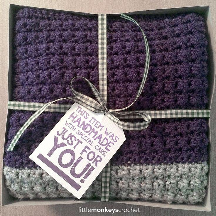 Pinteresting Projects: textured squares crochet blanket tutorial from Little Monkeys Crochet