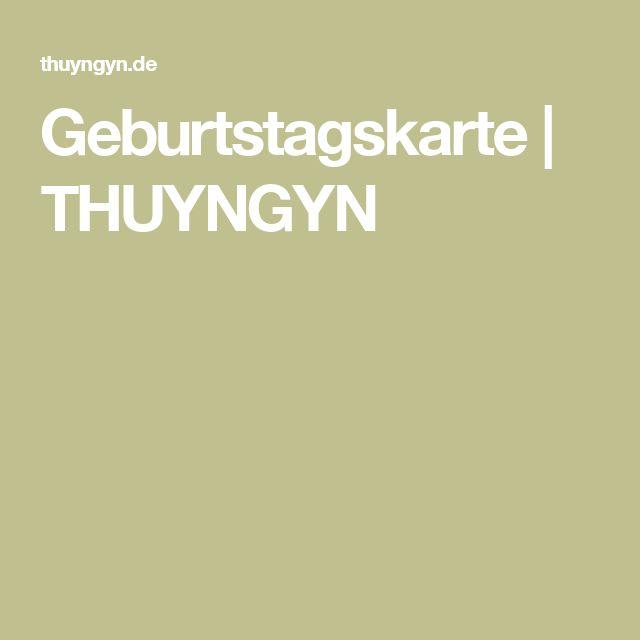 Geburtstagskarte | THUYNGYN