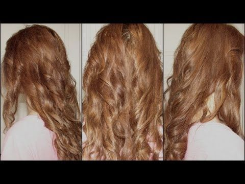 Quick waves using a braid and flat iron. (Long hair only)