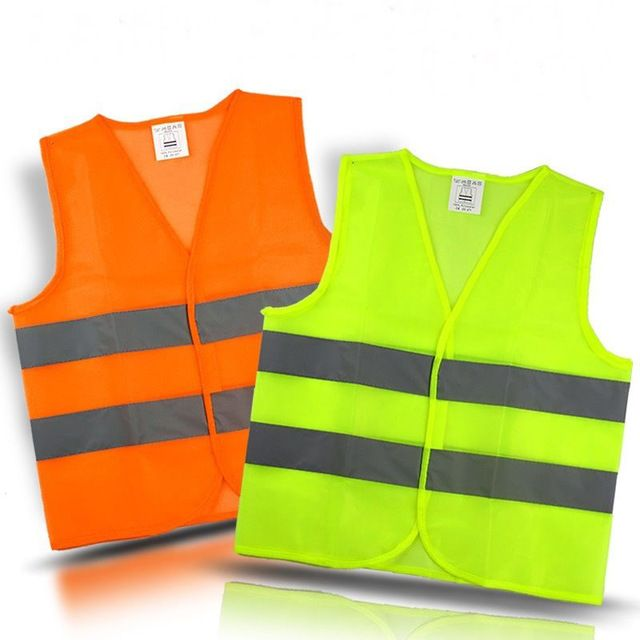 Safety High Visibility Reflective Running Vest Cycling Night Walking Work