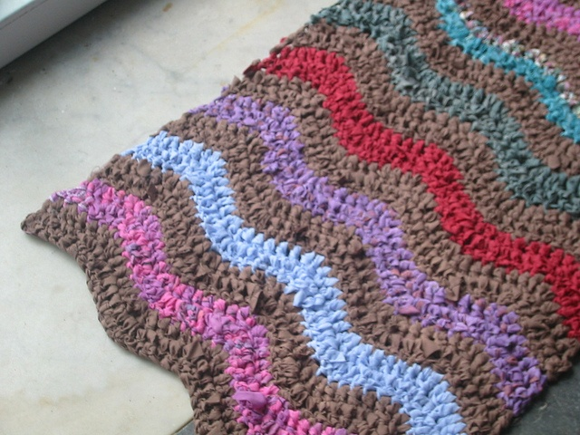 Crocheting Rag Rugs : Crochet ripple rag rug My Crochet Pinterest