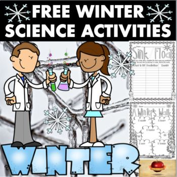 Celebrate the season of winter using this FREE Science Activity Set! This set comes as a MASSIVE THANK YOU for all of the new followers and feed-backers that I have received over the past several months. I am SO very thankful for you all, and stay tuned as MORE FREE sets will be coming in the new year!