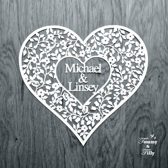 40% off sale!!! Blank Vintage Heart (to personalise) - Papercutting Template to print and cut yourself (COMMERCIAL USE)