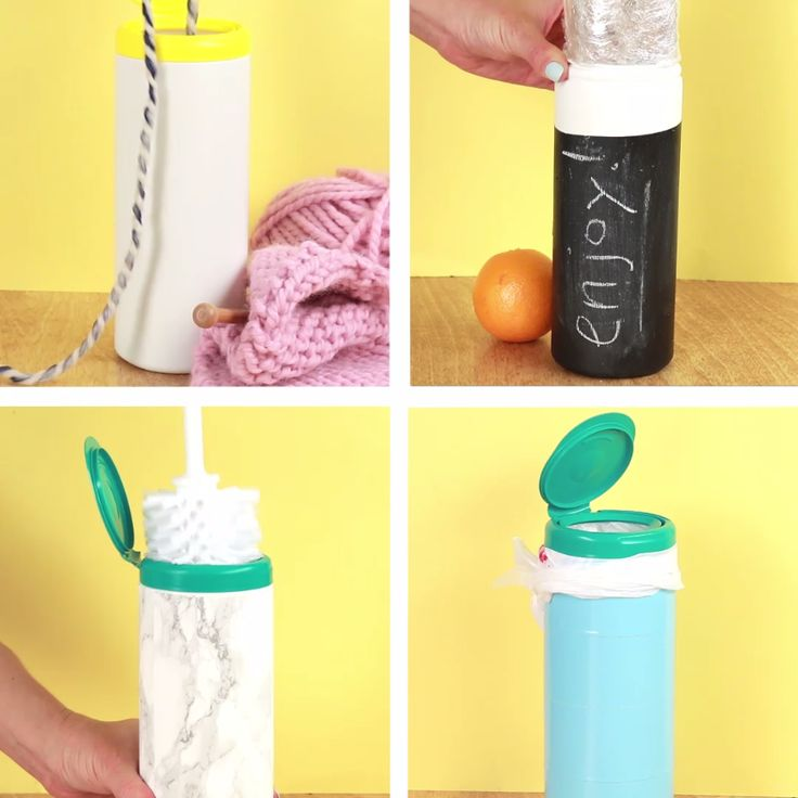 4 Clever Ways To Repurpose A Cleaning Wipe Container