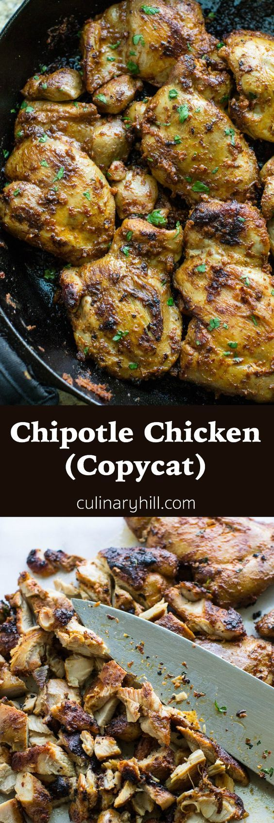 Chipotle Chicken copycat recipe--recipe yields 2c. marinade, should be enough for 10lbs of chicken
