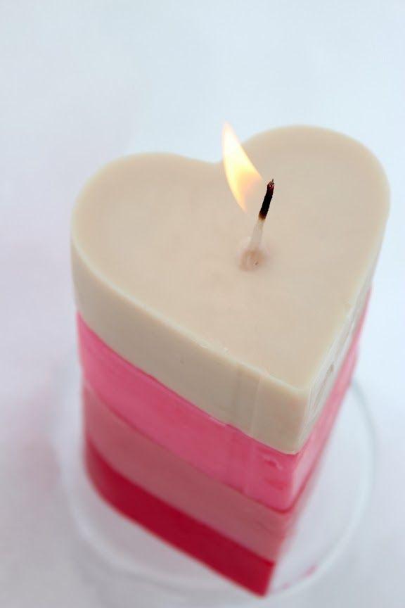 Fashion meets Food: DIY: Heart Pillar Candle