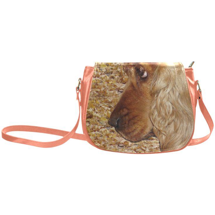 Dog Cocker Spaniel Classic Saddle Bag/Large (Model 1648)