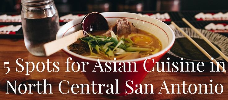 San Antonio isn't all tacos and barbecue. The Alamo City also has delicious Asian cuisine, including Japanese, Chinese, Vietnamese and Mongolian food. Below are five spots for some of the best Asian food near our …