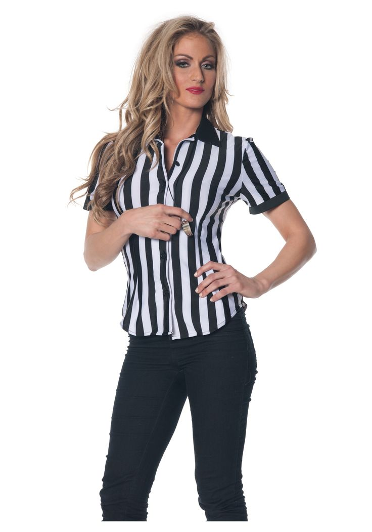 ref costumes for women   Womens Referee Shirt