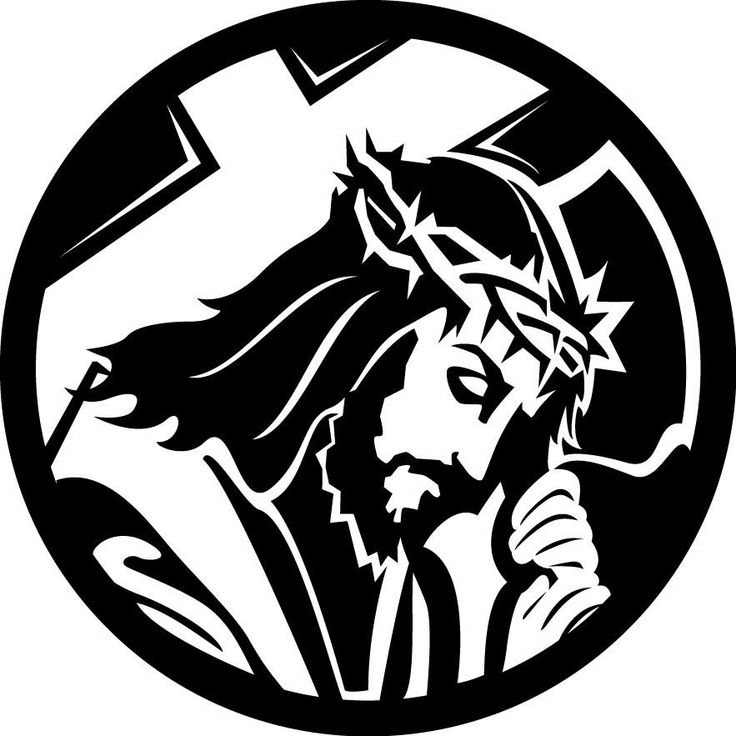 "Jesus with Cross Single color cut decal Sizes available: - Small: 6"" diameter - Medium: 8"" diameter - Large: 10"" diameter Colors* available: - Matte white, Matte black, Blue, Red, Yellow, Orange, Pink"