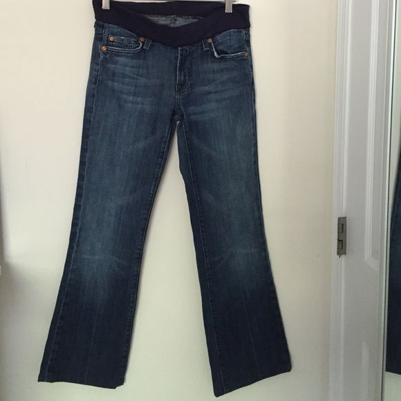 "7 for all man kind  pregnancy jeans Used gently  inseam measure 29"". 7 for all Mankind Jeans Boot Cut"