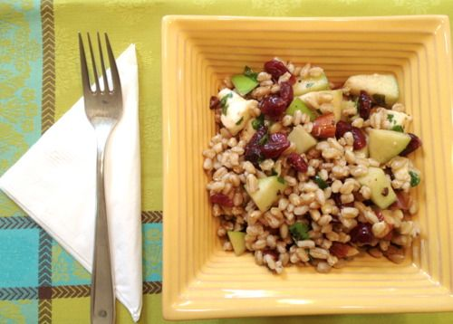 Farro Salad with Apples, Almonds and Smoked Mozzarella » Little Chef ...