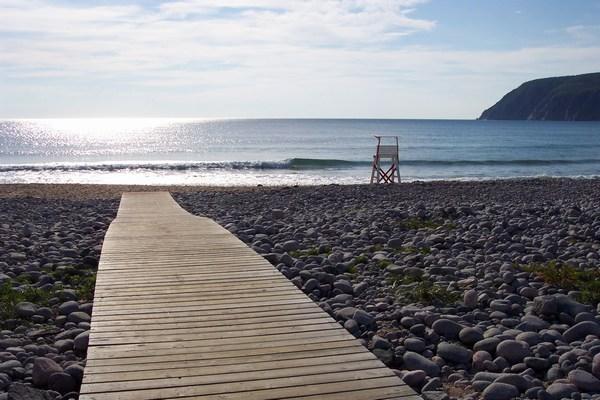 Atlantic beach on Cape Breton at 8:30 a.m