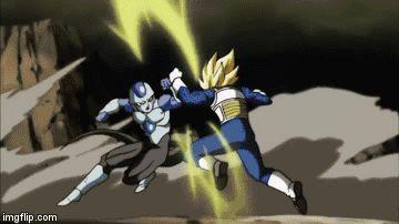 Super Saiyan Vegeta  vs Frost
