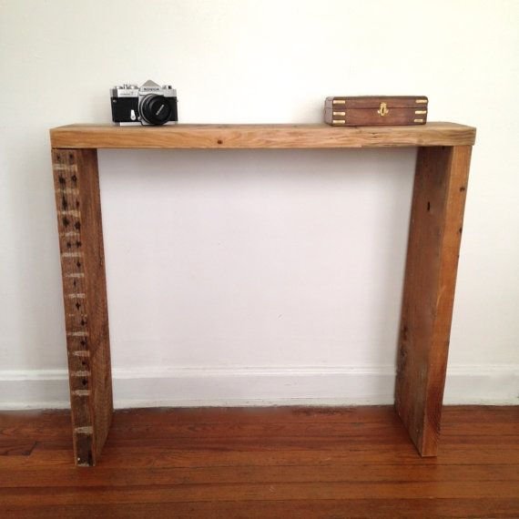 Parker Console Table // Reclaimed Ceiling Joists // Reclaimed Wood