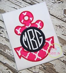 Anchor Monogram Applique - 3 Sizes! | What's New | Machine Embroidery Designs | SWAKembroidery.com The Itch 2 Stitch