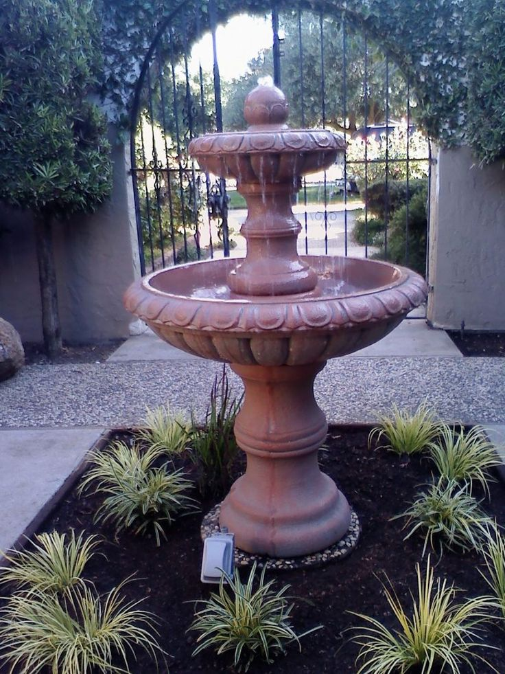 In the past public fountains served places to meet while - Small garden fountain ideas ...
