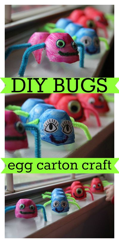 Egg Carton Bug Craft