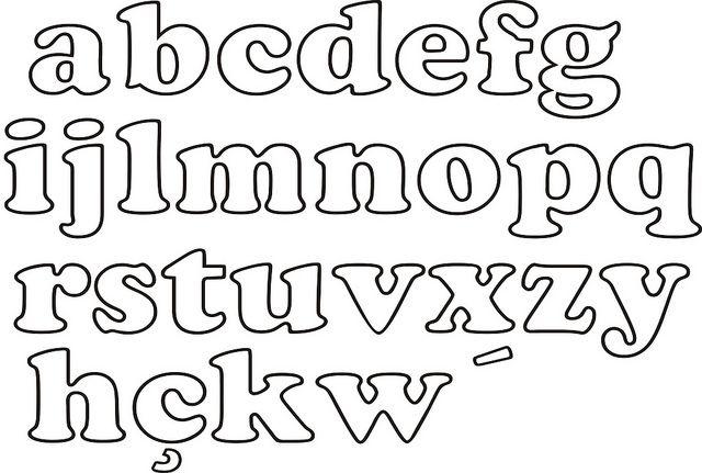 Moldes de letras para artesanato alfabeto abecedario - Letras para dibujar ...