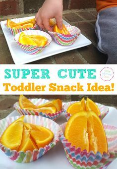Toddler Snack Idea - a cute way to present a healthy snack option to kids. Perfect for picky eaters!