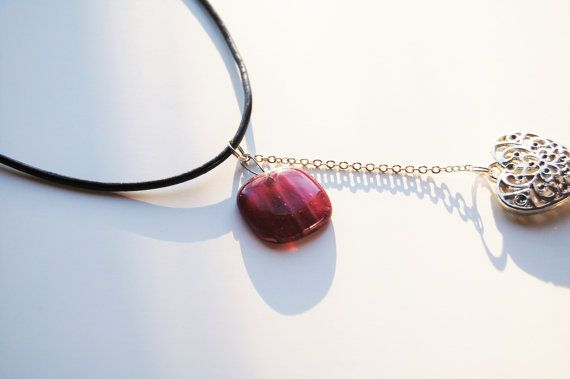 Hey, I found this really awesome Etsy listing at https://www.etsy.com/no-en/listing/271008996/light-at-heart-necklace-raspberry-pink