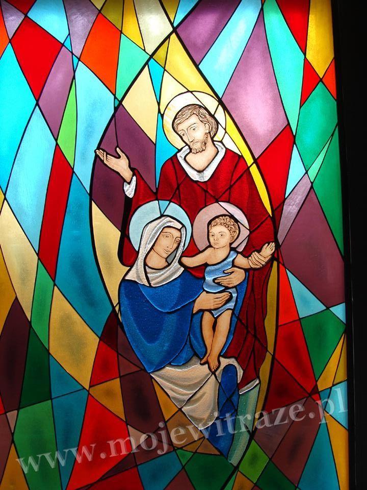 Święta Rodzina - witraż  www.mojewitraze.pl