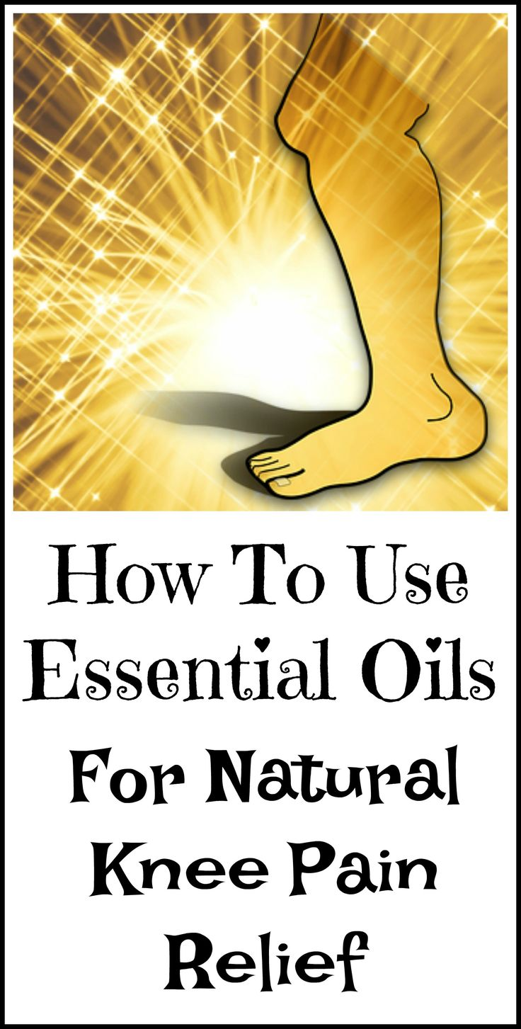 How to use essential oils to help relieve knee pain naturally.