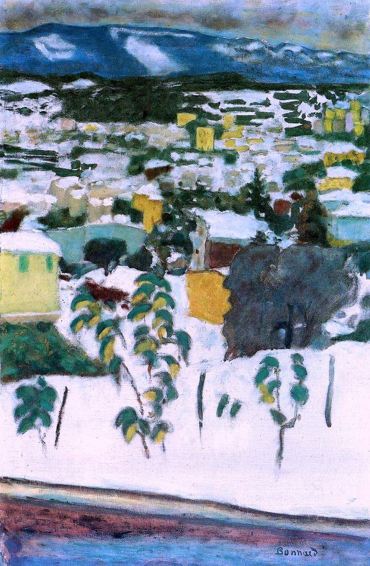 bofransson:  Pierre Bonnard -1927 vers le cannet sous la neige