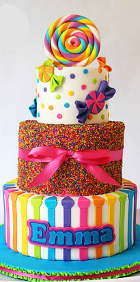Best Candy Birthday Cakes Ideas On Pinterest DIY Birthday - Colorful diy kids cakes