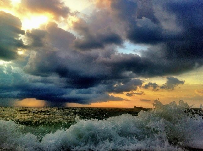 Distant rain, passing ship.