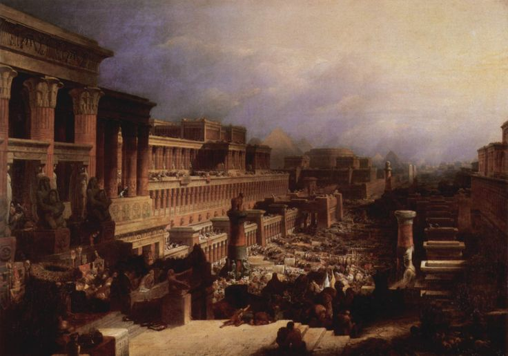 David Roberts, Departure of the Israelites, 1829. Here Roberts shows the typical architercture of the Midde East from his travels.