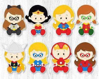 Superhero Girl Centerpiece Superhero Girl Table by KidzParty