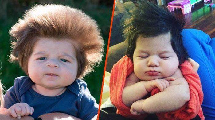 8 Bayi Ini Lahir Dengan Gaya Rambut yang Sangat Unik! Antara Lucu, Gemas dan Keren