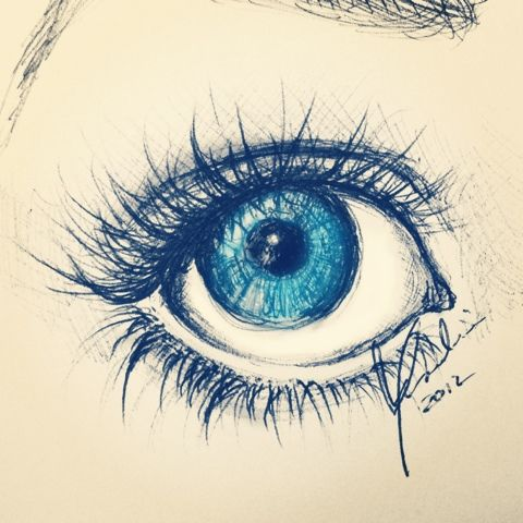Pics For > Cool Eye Drawings Tumblr
