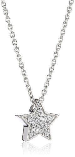 Fossil-Damen-Halskette-925-Sterling-Silber-Zirkonia-wei-JFS001550