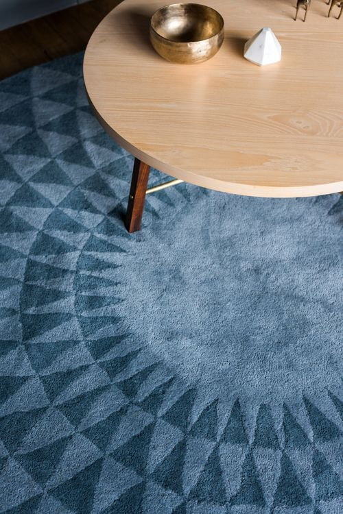 Blues Concentric Rug In Stone Blue Pewter Another Country Table Apartment Decorating