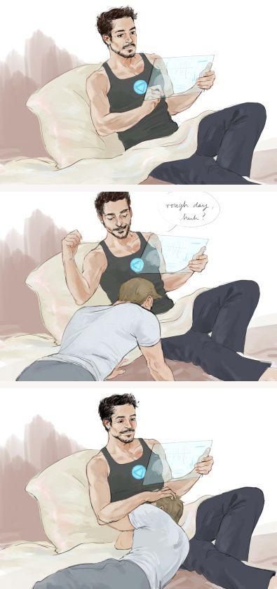 Steve's had a rough day.   (Art by mrsgingles)