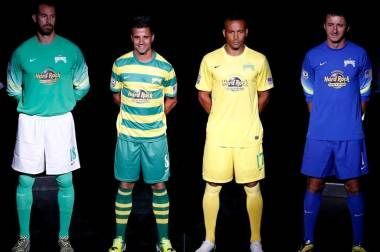 Tampa Bay Rowdies 2015 Nike Home and Away Jerseys