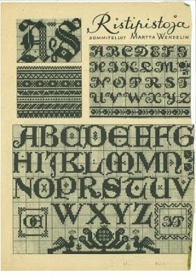 Finnish Cross Stitch Patterns from the 1940's // Suomalaisia ristipistomalleja 1940-luvulta.