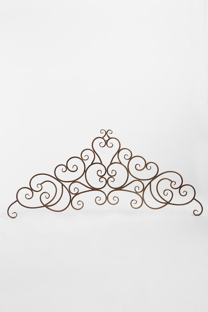 Headboard I would very much like to have. looks like something a princess would have :) how perfect!
