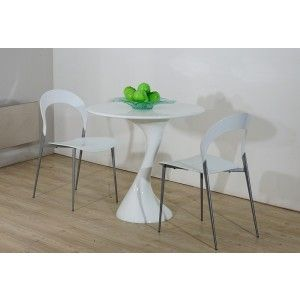 twist white lacquer round dining table modern dining dining room - Erweiterbar Runden Podest Esstisch