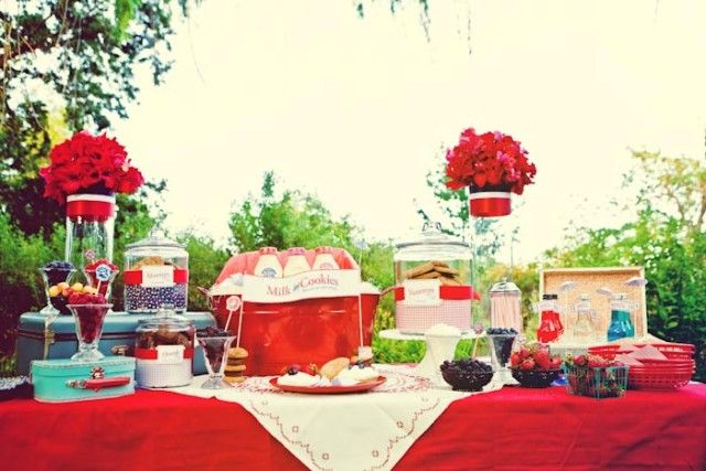 Vintage Fourth of July Wedding   Red, White and Blue Wedding   Perfect Wedding Guide Blog