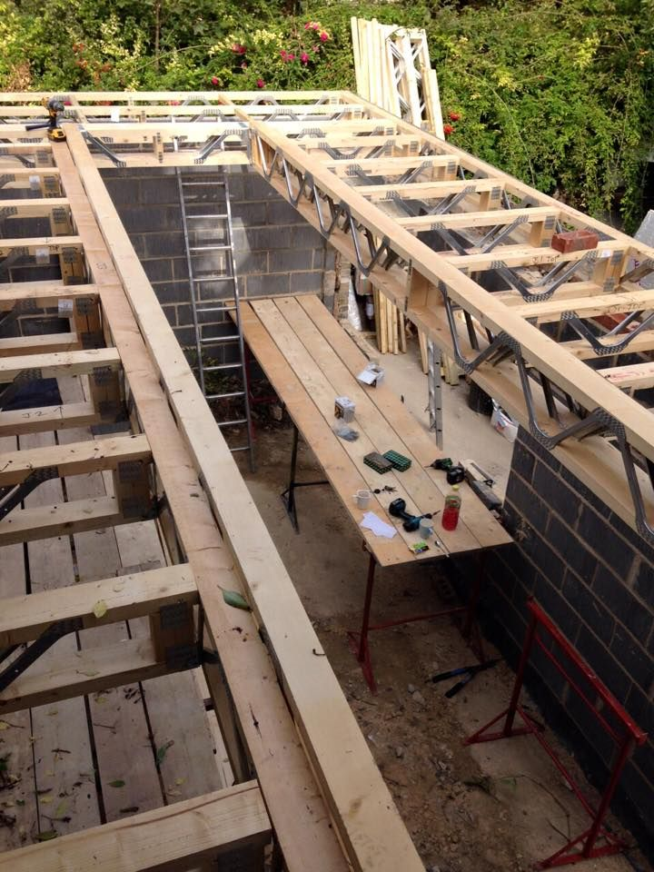 Metal Web Joists Forming Large Opening In Flat Roof By Lob